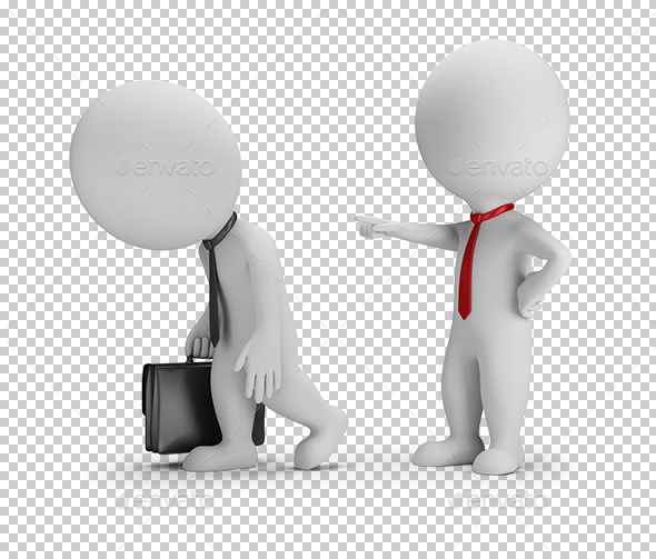 3D Small People - Dismissal - Characters 3D Renders