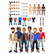Dresses and Hairstyles Game with Male Avatar - GraphicRiver Item for Sale
