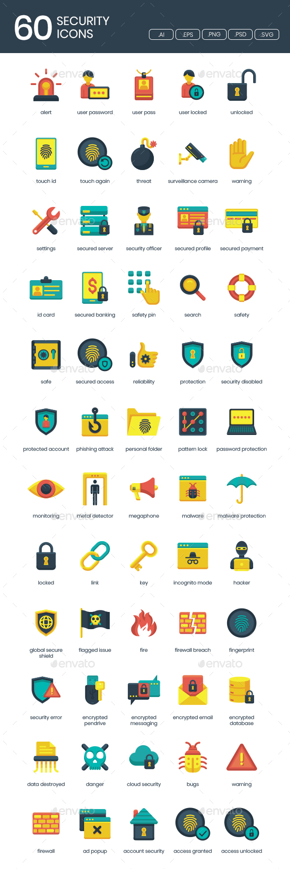 GraphicRiver IT Security Icons 20951177