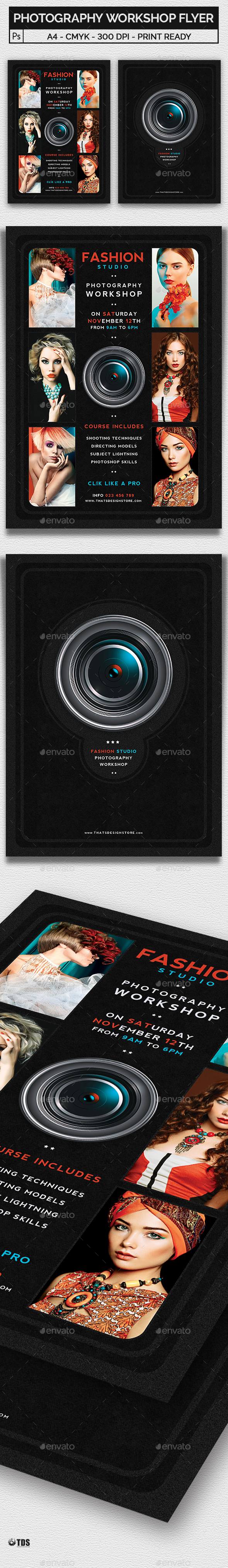 Photography Workshop Flyer Template - Corporate Flyers