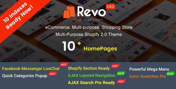 Revo - Creative Multi-Purpose Responsive Shopify Drag & Drop Sections Theme - Shopify eCommerce