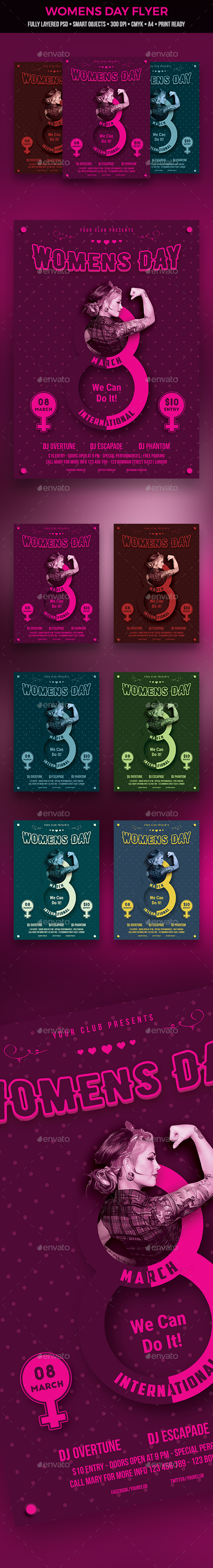 GraphicRiver Womens Day Flyer 20936565