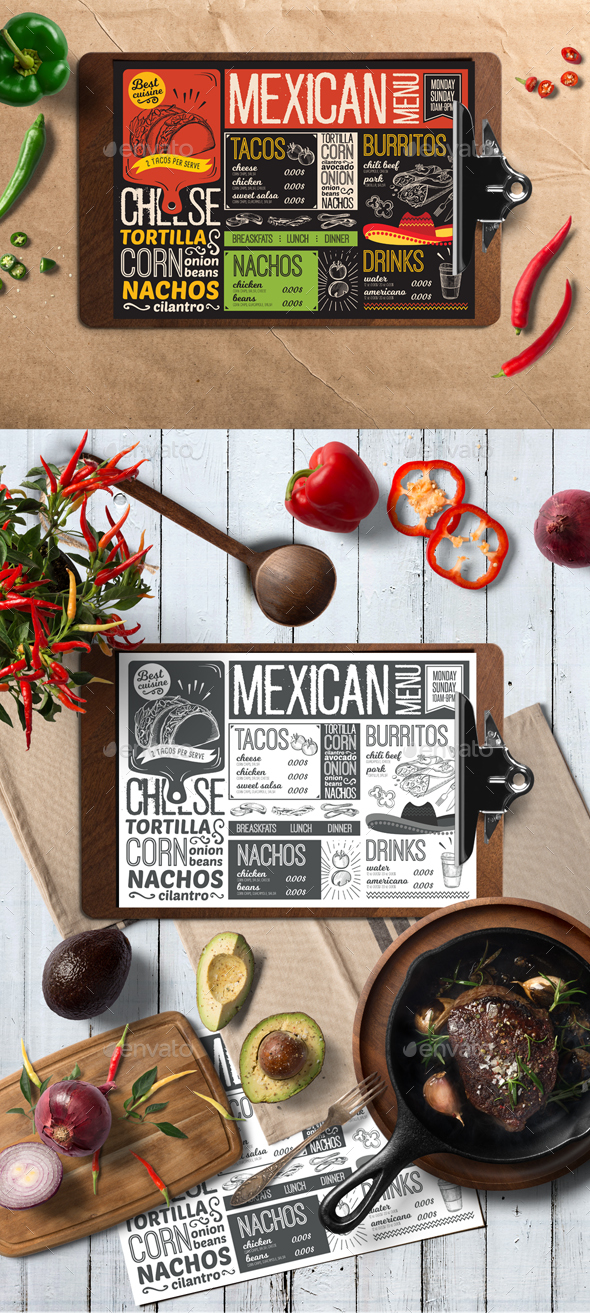 Menu Templates from GraphicRiver – Food Menu Template