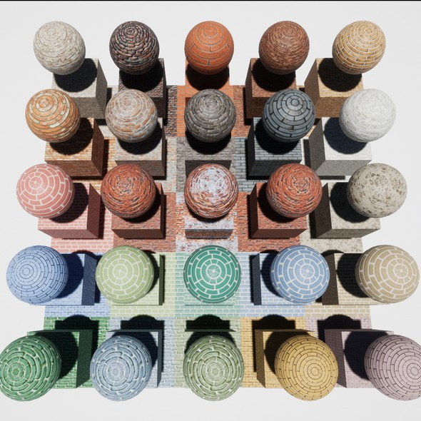 Brick Mobile Materials Package Volume 1 - 3DOcean Item for Sale