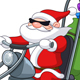 Santa with Motorcycle
