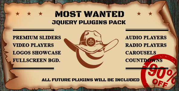 CodeCanyon Most Wanted jQuery Plugins Pack 20951419
