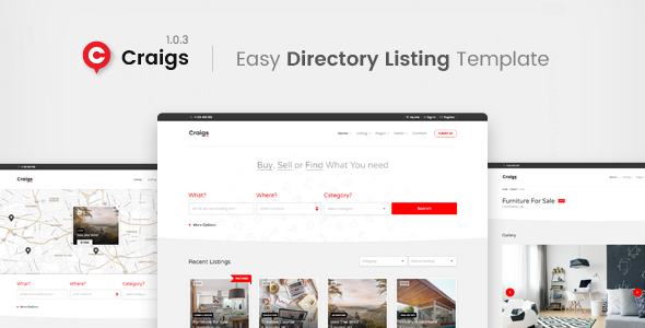 Craigs - Easy Directory Listing Template
