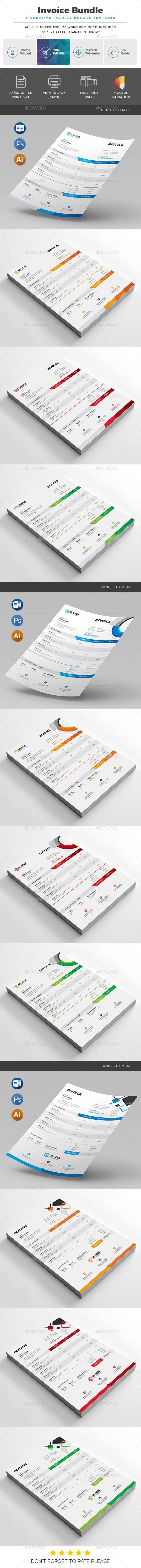GraphicRiver Invoice Bundle 20951555