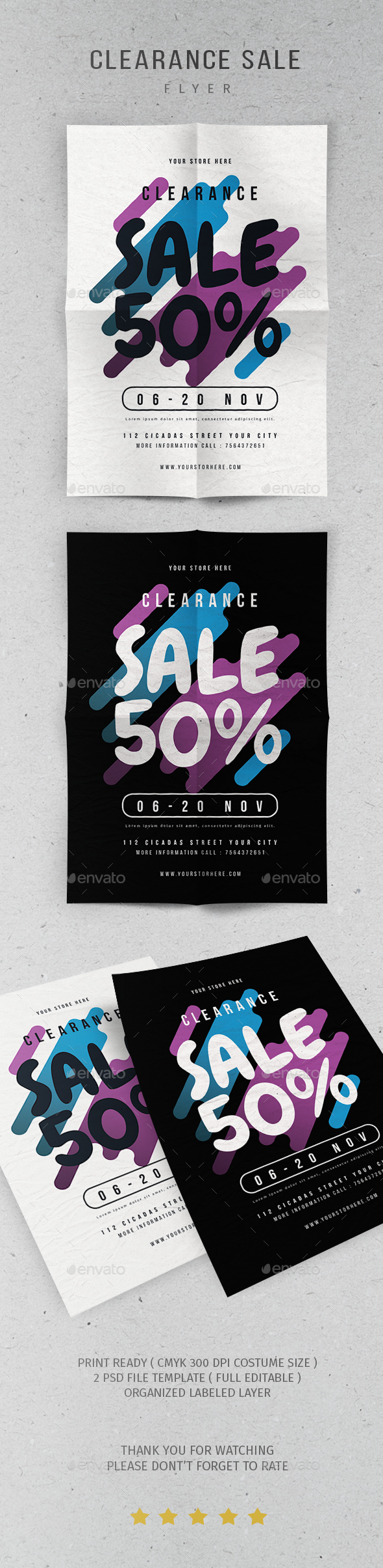 GraphicRiver Clearance Sale Flyer 20951680