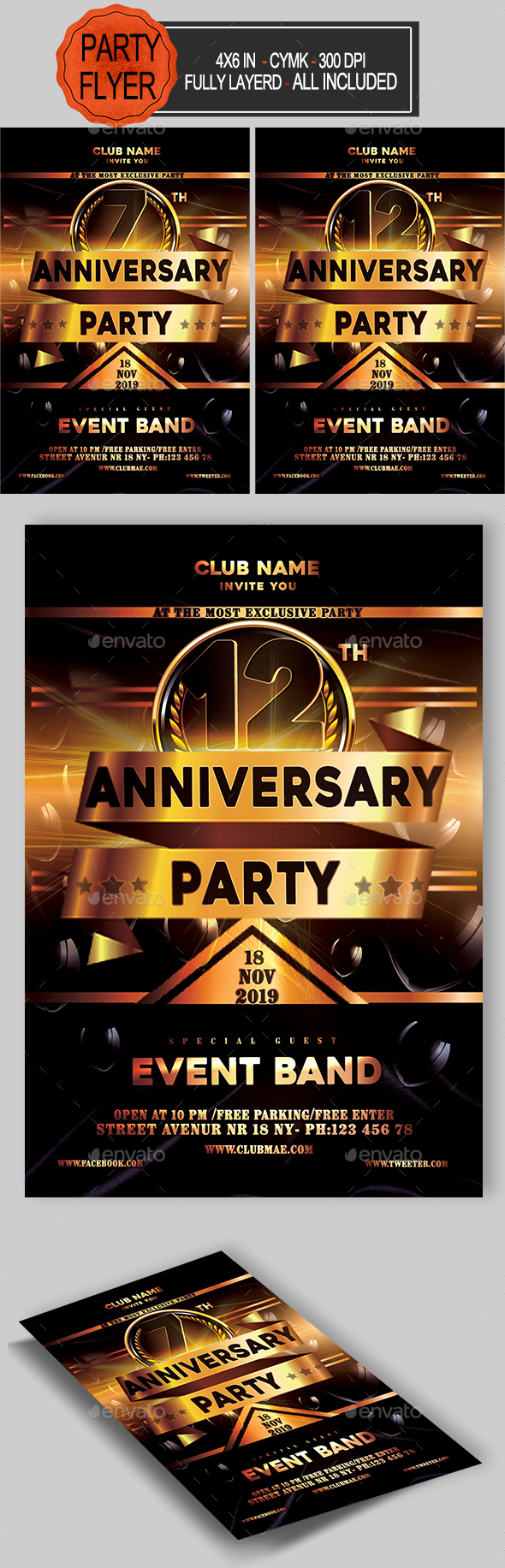 GraphicRiver Anniversary Flyer 20951681