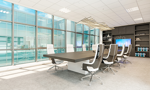 Meeting Room In Business Center - Architecture 3D Renders