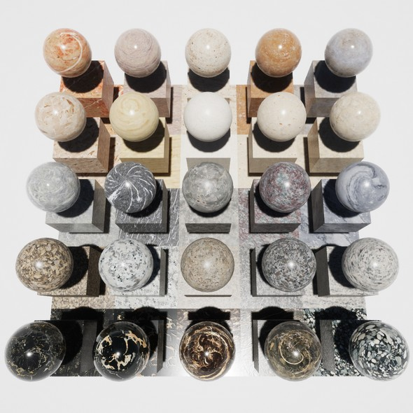 Marble Mobile Materials Package Volume 1 - 3DOcean Item for Sale
