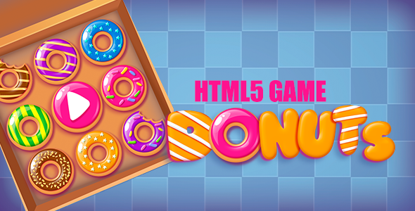 CodeCanyon Donuts Match3 HTML5 Game 20952000