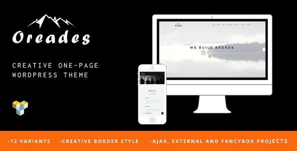 Oreades - Creative One-Page WordPress Theme - Creative WordPress
