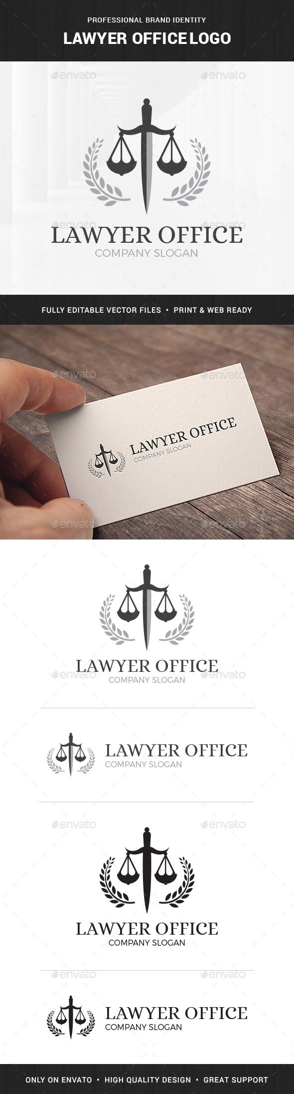 Lawyer Office Logo Template - Symbols Logo Templates