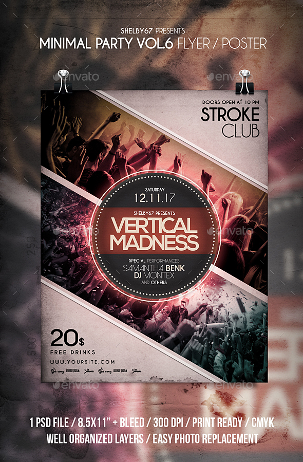 GraphicRiver Minimal Party Flyer Poster Vol 6 20952315