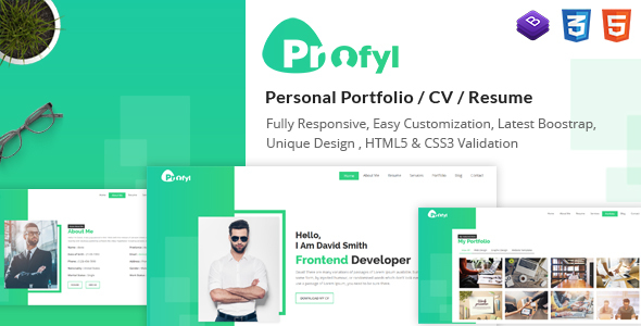 Download Profyl - Personal Vcard Resume HTML Template            nulled nulled version