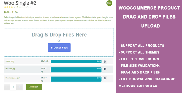 WooCommerce Product Drag and Drop Files Upload - CodeCanyon Item for Sale