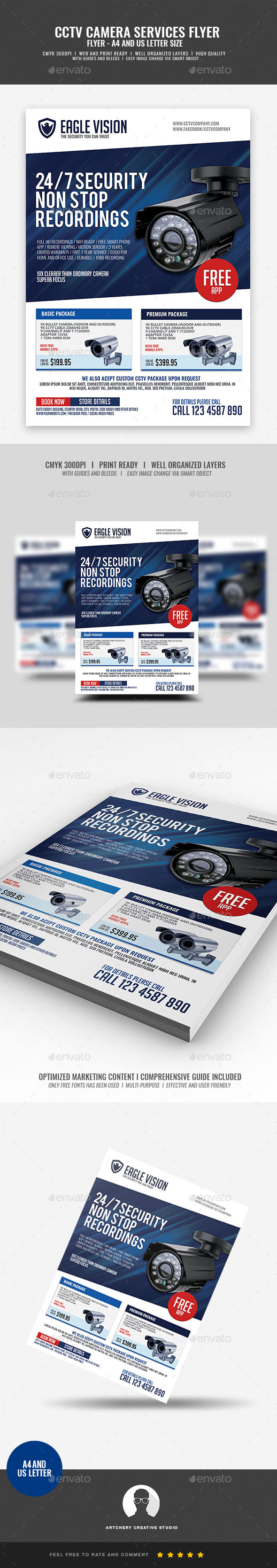 CCTV Surveillance Camera Shop Flyer - Corporate Flyers