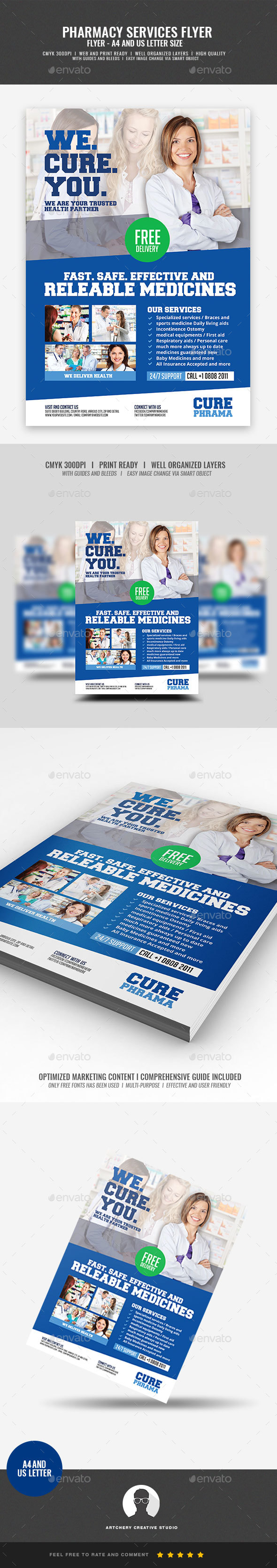 GraphicRiver Pharmaceutical Company Flyer 20937077