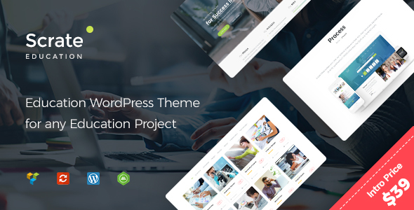 Download Scrate - WordPress Theme for Education and Teaching Online Courses            nulled nulled version