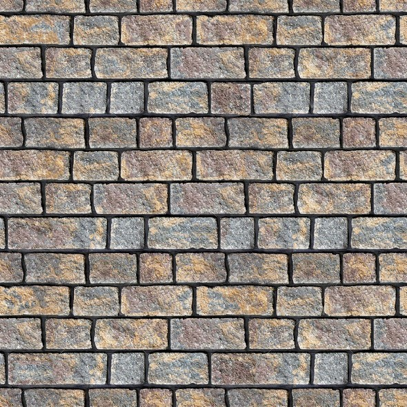 Stone Block Seamless Texture Set Volume 1 - 3DOcean Item for Sale