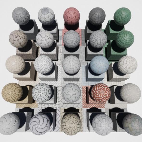 Walkway Mobile Materials Package Volume 1 - 3DOcean Item for Sale