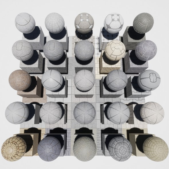 Walkway Mobile Materials Package Volume 2 - 3DOcean Item for Sale