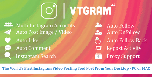 VTGram - Instagram Tool For Marketing - CodeCanyon Item for Sale