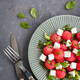 Fresh delicious salad with watermelon and feta cheese - PhotoDune Item for Sale