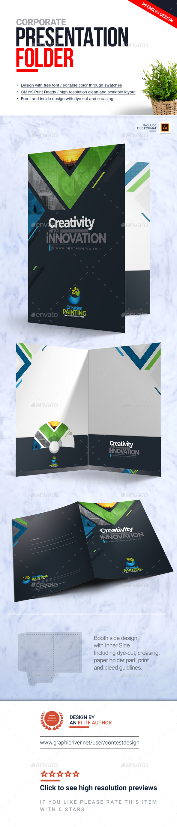 GraphicRiver Presentation Folder File-Paper-Document Holder Design Template 20952741