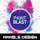 Paint Blast Party Flyer