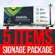 Corporate Signage Solution Package Design Template