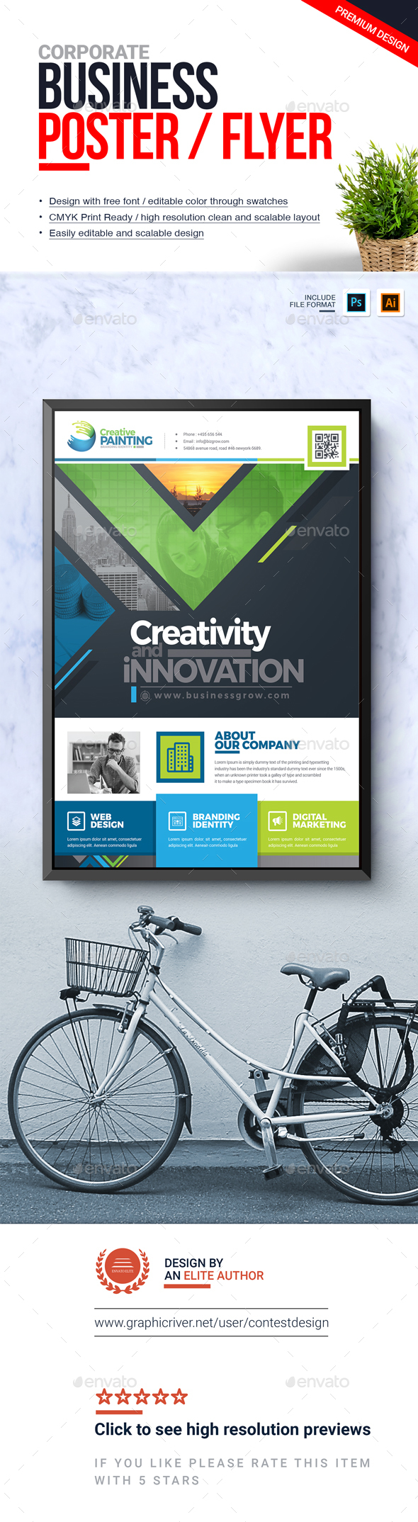 GraphicRiver Corporate Business Flyer Poster Advertising Design Template 20952782