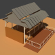 Low Poly Cowshed