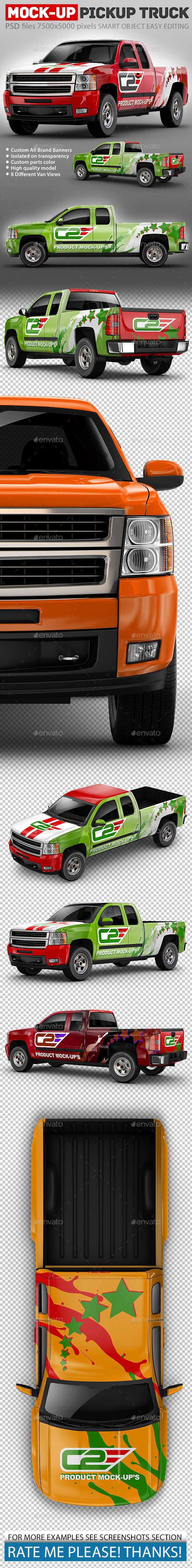 GraphicRiver Pickup Truck Mock-Up 20952792