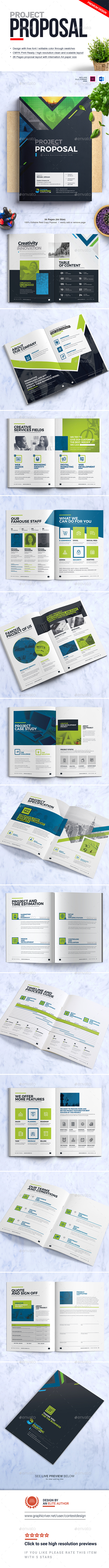 GraphicRiver Project Proposal Template MS Word Business Proposal 20952887