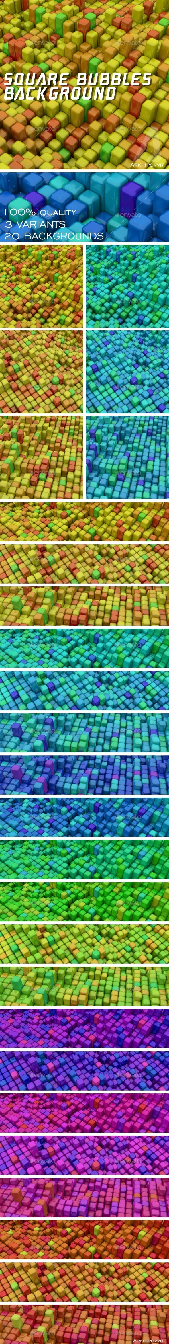 GraphicRiver Square Bubbles Backgrounds 20952928
