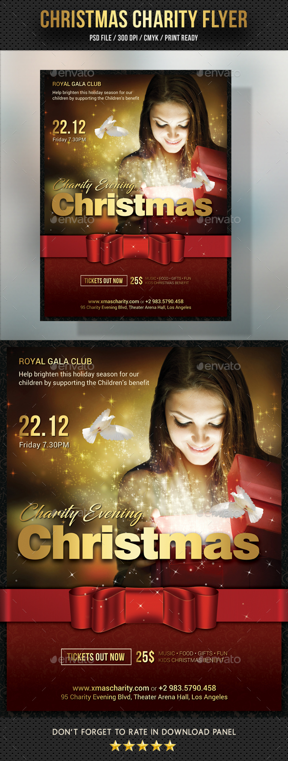 GraphicRiver Christmas Charity Flyer 20952931