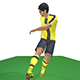 Kagawa Game Ready Football Player Kick Animation