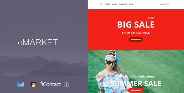 eMarket Mail - Responsive E-mail Template + Online Access