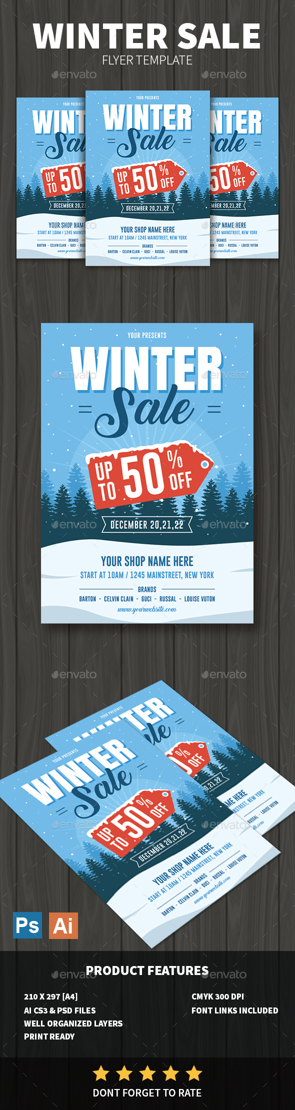 GraphicRiver Winter Sale Flyer 20952975