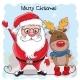Christmas Deer and Santa