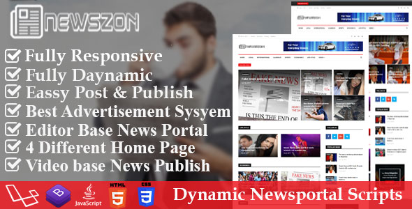 CodeCanyon News Paper Dynamic News Magazine and Blog Portal Script 20914360