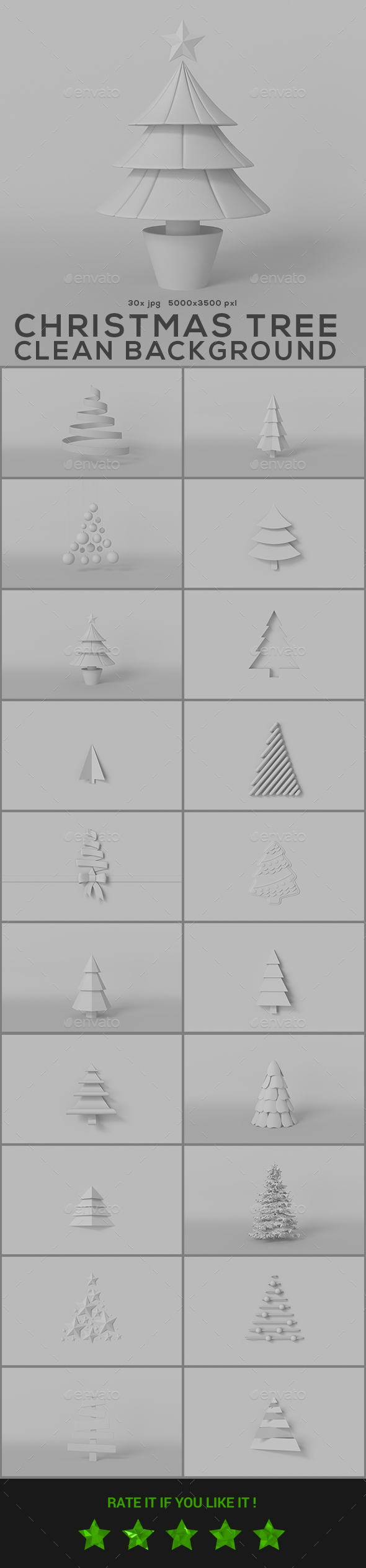 GraphicRiver Christmas Tree Clean Backgrounds 20953406