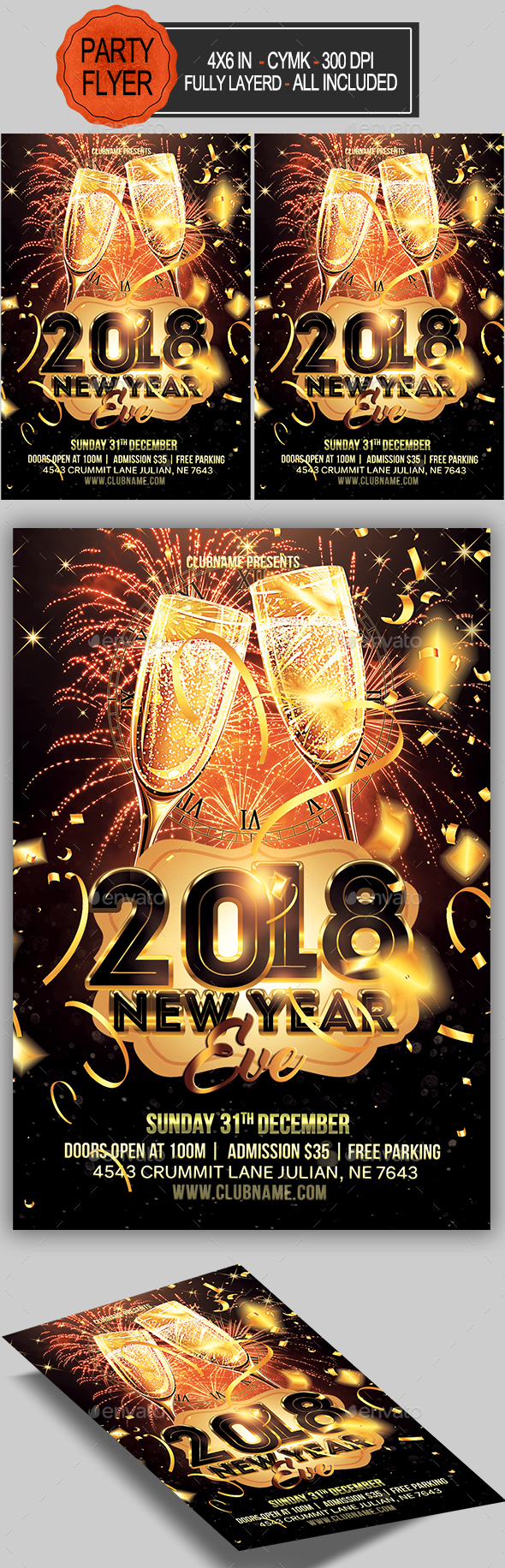 GraphicRiver New Year Party Flyer 20953487