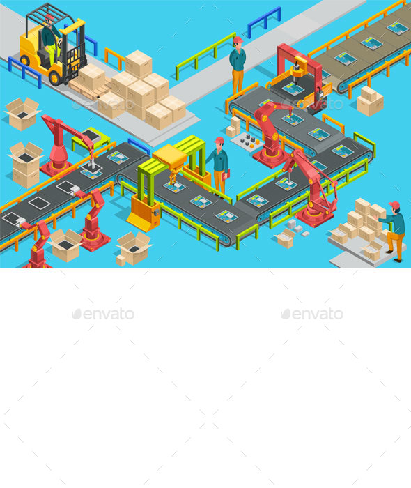 GraphicRiver Automatic Factory with Conveyor Line 20953494