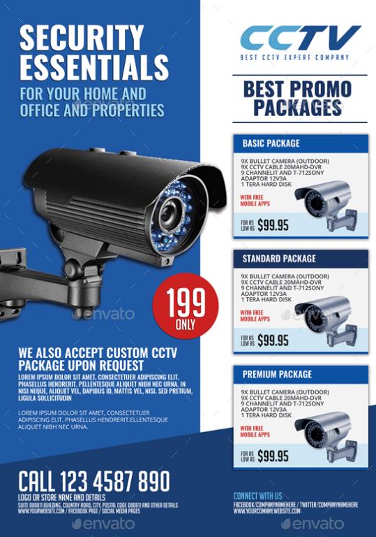 Surveillance Cctv System Flyer By Artchery Graphicriver