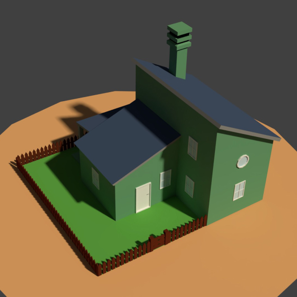3DOcean Low Poly Farm House 2 20953716
