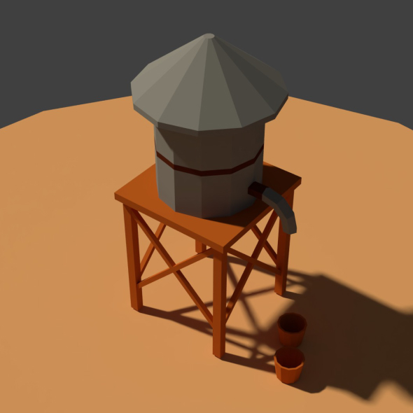 Low Poly Farm Well - 3DOcean Item for Sale